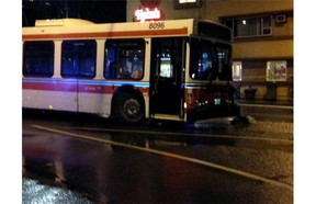Victoria police are investigating after a bus struck two pedestrians near Douglas and Superior streets on Tuesday night.