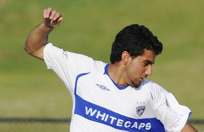 File photo: Vancouver Whitecaps player Sahil Sandhu at SFU, Burnaby