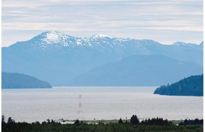 The Transportation Safety board cites crew fatigue as a cause in a report involving a British Columbia tug that touched bottom while towing a barge loaded with cement south of Kitimat. The view looking down the Douglas Channel from Kitimat.