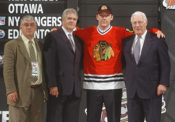Cam Barker was selected 3rd overall in the 2003 NHL Draft. (Photo by Sara Davis/Getty Images)