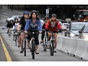 Cycling on busy roads leads to higher levels of toxicants in the bloodstream than cycling on side streets, according to a new study by researchers at UBC.