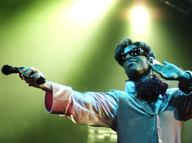 The Artist Formerly Known As Prince performs at GM Place in Vancouver on Sept 26,1997.