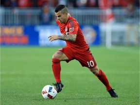 Toronto FC midfielder Sebastian Giovinco takes off during last weekend's home opener against FC Dallas at the refurbished BMO Field.