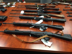 Firearms relinguished to Surrey RCMP during Safe City Project