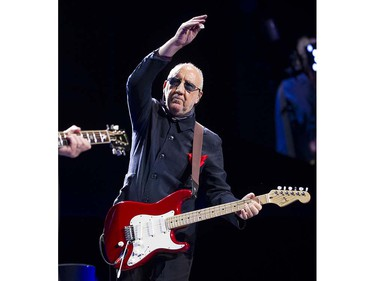 VANCOUVER May 13 2016. The Who's  Pete Townshend performs in concert at Rogers Arena, Vancouver, May 13 2016.