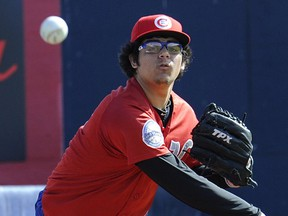 A young Roberto Osuna made his way to the Toronto Blue Jays via a minor-league route that saw him in a Vancouver Canadian uniform in 2012.
