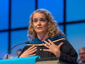 Now-Governor-General Julie Payette received an honorary doctorate of technology from BCIT last year.