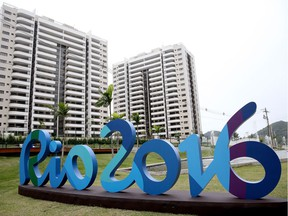 Preparations continue at the Olympic Athlete Village for the 2016 Rio Olympic Games as seen during a media tour of the venue on June 23, 2016 in Rio de Janeiro, Brazil.