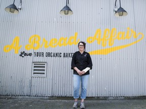 Tanya Belanger, co-owner and baker of A Bread Affair, poses for a photo outside the bakery.