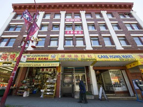 The historic May Wah Hotel at 262 E Pender St. in Vancouver.