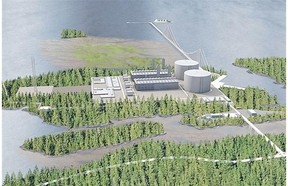 Malaysia's Petronas is frustrated that Prime Minister Justin Trudeau's climate-change priorities are introducing new uncertainty for its proposed $36 billion Pacific NorthWest LNG project in northern British Columbia and has threatened to walk away if it doesn't get federal approval by March 31, according to a source close to the project. Artisti's rendering of Pacific NorthWest LNG's proposed plant on Lelu Island near Prince Rupert.