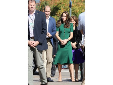 Prince William, Duke of Cambridge and Catherine Duchess of Cambridge visit Kelowna University during their Royal Tour of Canada on September 27, 2016 in Kelowna, Canada. Prince William, Duke of Cambridge, Catherine, Duchess of Cambridge, Prince George and Princess Charlotte are visiting Canada as part of an eight day visit to the country taking in areas such as Bella Bella, Whitehorse and Kelowna.