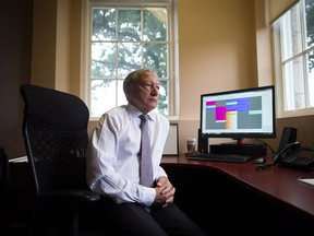 Dr. Brian Day, Medical Director of the Cambie Surgery Centre, sits for a photograph at his office in Vancouver on Wednesday, August 31, 2016. A self-styled champion of privatized health care is bringing his fight to British Columbia Supreme Court on Tuesday for the start of a months-long trial he says is about patients' access to affordable treatment, while his opponents accuse him of trying to gut the core of Canada's medical system.