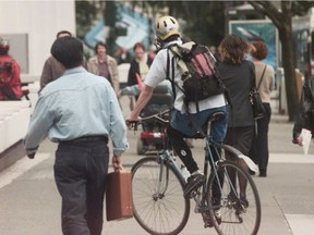 North Vancouver RCMP will be going after cyclists who ride on sidewalks.