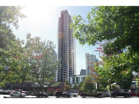 Residents of the 66 rental apartments at Brockton House at 1640-1650 Alberni St. have been informed the 47-year-old, 14-storey apartment building owned by Hollyburn Properties will eventually be emptied for redevelopment. A 385-foot-tall, 42-storey rental apartment tower will take its place. Evan Duggan story [PNG Merlin Archive]