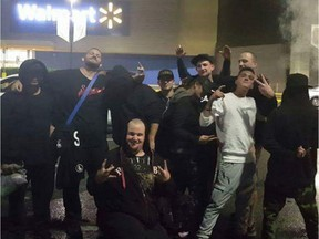 Unidentified members of a Surrey chapter of the Creep Catchers, taken from Facebook.
