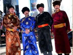 Huun Huur-Tu, the Tuvan throat singing group from Tuva, southern Siberia, perform at Vancouver Playhouse.