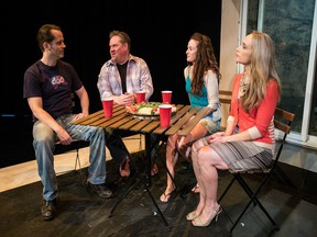 Main characters in Detroit, from the left: Aaron Craven as Kenny, Joel Wirkkunen as Ben, Luisa Jojic as Sharon and Jennifer Copping as Mary.