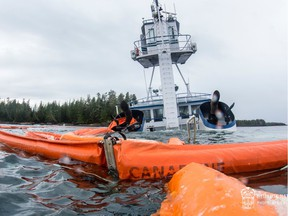 Efforts to remove a sunken tug from the waters off British Columbia's central coast have wrapped up, but crews continue to clean-up and survey the damage left behind.