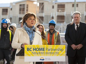 Premier Christy Clark announces a new program in Surrey to assist first-time homebuyers across the province on Thursday.