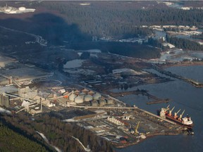Pacific Future Energy Corp. is proposing an oil refinery near Kitimat (pictured) and would ship refined petroleum products by tanker from Kitimat.