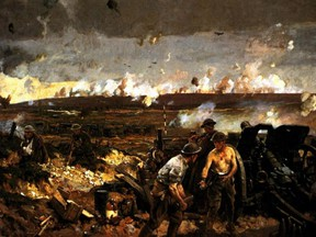 The largest artillery barrage in history to that point helped the Canadians gain their victory at Vimy Ridge.