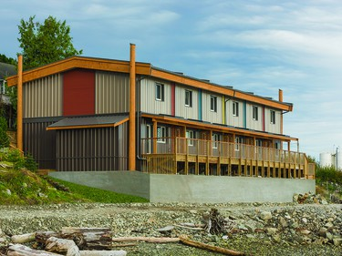 The Vancouver Coastal Health Authority, represented by Brett Crawley, Vancouver, was presented with the Environmental Performance Award for Bella Bella Passive House, Bella Bella.