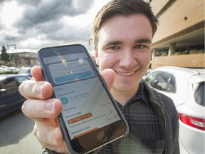 Josh Andrews, a local tech developer with a carpooling app called Spare Rides, in Vancouver.