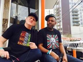 Actor and comic Michael Rapaport, left, with Gerald Moody of the I Am Rapaport podcast.