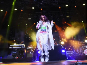 Singer Kehlani performs on the Mojave stage during day 3 of the Coachella Valley Music And Arts Festival (Weekend 1) at the Empire Polo Club on April 16, 2017 in Indio, California.