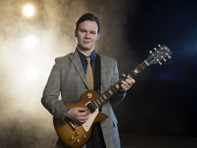 Kale Penny plays Carl Perkins in the Arts Club's production of Million Dollar Quartet at Stanley Industrial Alliance Stage May 11-July 9.