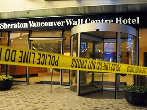 Sandip Duhre was shot to death in the lobby of the Sheraton Wall Centre on Jan. 17, 2012.  (Steve Bosch/PNG) [PNG Merlin Archive]