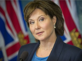 Christy Clark at a news conference on May 30, 2017, in Vancouver.
