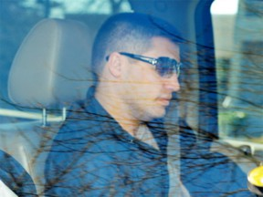 Jonathan Bacon leaves Surrey Provincial court on April 7, 2009. He was gunned down in Kelowna two years later.