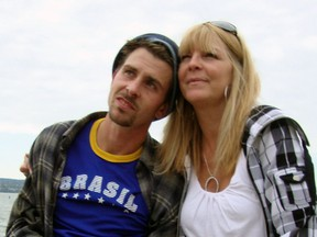 Lindsey Longe, pictured here with his mother Christine Harris, was 30 when he died in supportive housing in 2012 in Vancouver.