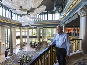 Nat Bosa with the new lobby of the Fairmont Empress hotel  in Victoria, B.C. June  28, 2017.