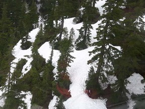Two hikers were rescued near the summit of Mt. Beautiful, north of Coquitlam.