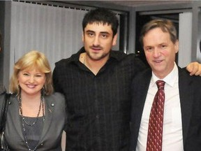 As a then-vice-president of the B.C. Young Liberals, realtor Shahin Behroyan appears with politicians Jane Thornthwaite and George Abbott at a party event. Behroyan says he will be vindicated when he faces allegations at a Real Estate Council of B.C. disciplinary hearing.