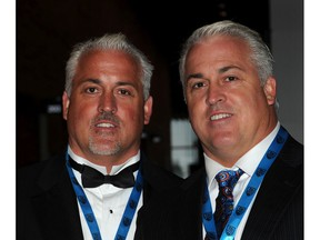 B.C. Sports Hall of Fame inductees Paul Gait, left, and Gary Gait at their induction ceremony in 2011.