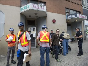Residents of the Balmoral Hotel in Vancouver's Downtown Eastside were met with eviction notices Friday, June 2, 2017 in order for the owner to repair the dilapidated hotel. The residents must leave the building by June 12.