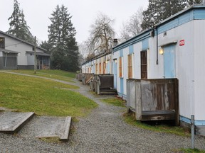 Portable classrooms at Fraser Heights Secondary in Surrey.