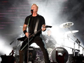 Metallica performs at BC Place on Monday.
