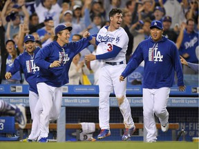It's been that kind of season for the L.A. Dodgers, seen here celebrating a ninth-inning victory over Chicago White Sox last week, one of 90 wins the club has registered so far this season.