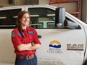 Jess Oundjian serves on an Initial Attack Crew in Kamloops for the B.C. Wildfire Service.