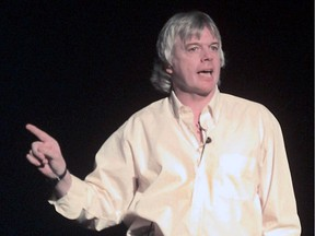 David Icke, author, lecturer and conspiracy theorist, speaks at the Vogue in March 2000 in this file photo.