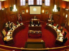 The Council Chambers at Vancouver City Hall.