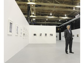 Andy Sylvester of the Equinox Gallery surveys his space at 525 Great Northern Way.