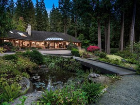 Nestled in the forest above Deep Cove, the estate-style property at 2250 Indian River Crescent in North Vancouver is being put up for sale by Sotheby's International Canada for $36.2 million, which would be a record price for North Vancouver, according to the realtor.
