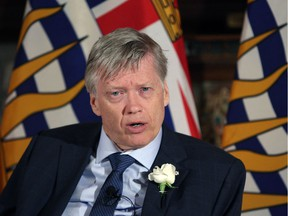 """Sam Sullivan, one of the leadership candidates for the B.C. Liberal Party, predicts that proportional representation would create an opening """"for a racist party, speaking on the floor of the legislature."""""""