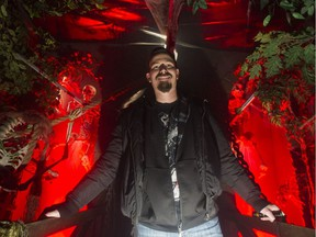 Scott Pasternak is the head designer of Potter's House of Horrors in Surrey. The haunted house isopen for the Halloween season, scaring the wits out of young and old alike.